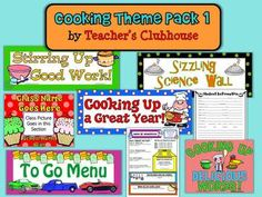 Cooking Theme Pack #1 from Teacher's Clubhouse