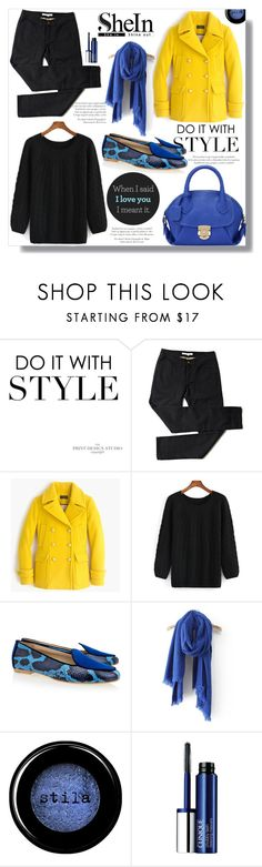 """""""Hijab"""" by sans-moderation ❤ liked on Polyvore featuring J.Crew, Aperlaï, Stila, Clinique, Winter, hijab, winterstyle and shein"""