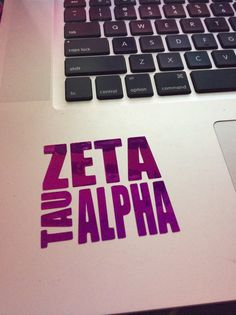 Zeta Tau Alpha Block Decal by BowsAndClips on Etsy, $5.00 code PINTEREST for 15% off!