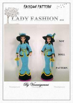 Double Crochet, Single Crochet, Crochet Dolls Free Patterns, New Dolls, White Beads, Slip Stitch, Elegant Woman, Crochet Clothes, Clothing Patterns
