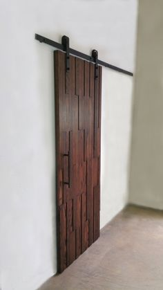 Modern Oak Barn Door - Solid Wood - Home Decor Pole Barn House Plans, Pole Barn Homes, Door Design Interior, Interior Barn Doors, Making Barn Doors, Barn Door Designs, Metal Barn, The Doors, Wood Home Decor