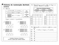 Atividades para imprimir do 3º ao 5º anos sempre a mão: Sistema de numeração decimal - Atividades