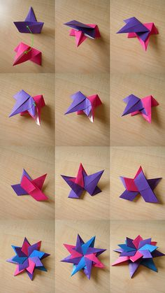 enrica dray star - assembly by Praise Pratajev better pictorial putting together Enrica Drays modular star. i was able to do it with this link (Diy Paper Stars) A good intro into modular origami DIY Easy Origami Paper Craft Tutorials (Step by Step) - Page Origami Paper Folding, Origami And Kirigami, Origami Fish, Modular Origami, Paper Crafts Origami, Paper Folding For Kids, Diy Paper, Diagrammes Origami, Easy Origami For Kids