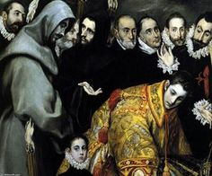 The Burial of the Count of Orgaz (detail) (12) - (El Greco (Doménikos Theotokopoulos))