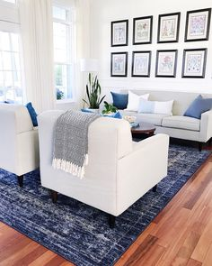 Keeping it light and simple in the living room for summer! I ordered a new coffee table for this space and can't wait to see how it looks…