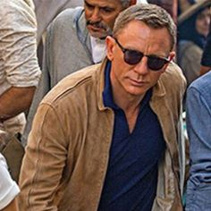 Chino Designer Mens Specter James Bond 007 Daniel Craig Suede Leather Jacket