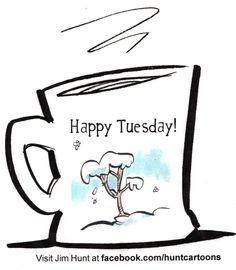 coffee mug snow