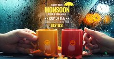 Besties, favorite brew in your cup and the pouring rain outside – What more can you ask for? This monsoon, enjoy the rain with carefree conversations over a hot cup of Tea.