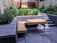 Rear garden modern dining terrace