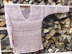 Купить Полувер вязаный крючком Джемпер ажурный Лето Вязаный свитер серый Лён