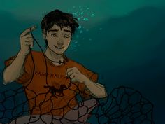 Am I the only one who loved that Percy just dived in to save animals whenever Blackjack told him there was one trapped somewhere? Percy jackson is literally the definition of perfection. Percy Jackson Fan Art, Percy Jackson Fandom, Percy Jackson Books, Percy And Annabeth, Annabeth Chase, Magnus Chase, Solangelo, Percabeth, Oncle Rick