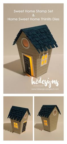 H2 Designs: Home Sweet Home Tealight Holder for The Paper Players