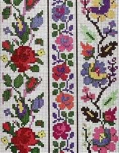Brilliant Cross Stitch Embroidery Tips Ideas. Mesmerizing Cross Stitch Embroidery Tips Ideas. Cross Stitch Rose, Cross Stitch Borders, Cross Stitch Flowers, Cross Stitching, Cross Stitch Patterns, Folk Embroidery, Cross Stitch Embroidery, Embroidery Patterns, Loom Patterns