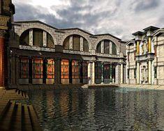 "Baths of Diocletian: so-called ""natatio""."