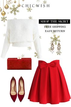 New holiday party attire classy work outfits ideas Christmas Party Outfits, Holiday Party Outfit, Christmas Fashion, Christmas Dresses, Mode Outfits, Skirt Outfits, Fall Outfits, Fashion Outfits, Womens Fashion