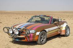 Jeremy Clarksons Miata he drove through Iran, Syria Israel on Top Gear. Jeremy Clarkson, Mazda Miata, Expedition Vehicle, Top Gear, Grand Tour, Go Kart, Corvette, Used Cars, Mustang