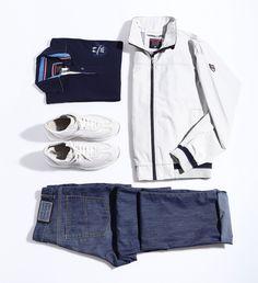 Un look sportivo e ricercato per l'uomo in continuo movimento? Provate questo outfit Navigare!