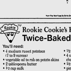Twice-Baked Potatoes - Washington Post Kids' Post