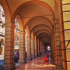 I love the arcades here in Bologna - Instagram by backpackersteve