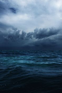 When people say they feel lost or hopeless, this is the sea I visualise. You can sea a dark storm brewing, but the lights still visible. The fluidity from the sea to the sky in this image is magnificent. No Wave, All Nature, Nature Water, Nature View, Sea And Ocean, Ocean Ocean, Ocean Deep, Sky Sea, Ocean Night