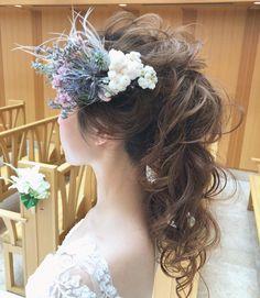 おしゃれな写真だけ!インスタ最新ブライダルヘア特集20選   marry[マリー] Ponytail Hairstyles, Wedding Hairstyles, Cool Hairstyles, Japan Hairstyle, Up Styles, Hair Styles, Elegant Wedding Hair, Models Makeup, Headdress