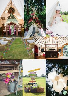 Glamping Wedding Ideas Mood Board from The Wedding Community