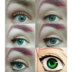 Sakura Eyes - Naruto - COSPLAY IS BAEEE! Tap the pin now to grab yourself some BAE Cosplay leggings and shirts! From super hero fitness leggings, super hero fitness shirts, and so much more that wil make you say YASSS! Epic Cosplay, Naruto Cosplay, Cosplay Diy, Cosplay Makeup, Costume Makeup, Cosplay Ideas, Anime Eye Makeup, Doll Eye Makeup, Sfx Makeup