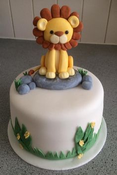 ideas birthday cake for boys ideas baby shower Safari Birthday Cakes, Safari Cakes, Novelty Birthday Cakes, Cake Birthday, Birthday Cake Kids Boys, Birthday Boys, Zoo Cake, Jungle Cake, Lion Baby Shower