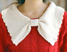 #red and white - love the bow detailing!