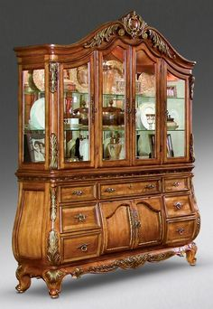 Nice Antique China Cabinets | ... Stylist Fresh Antique And Graceful China  Cabinet | Furniture