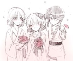 Young Soo-won, Yona, and Hak, by OwO_mimi on twitter- Yona of the Dawn/ Akatsuki no Yona