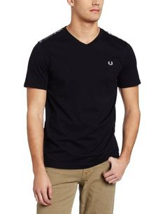 Fred Perry Men's V-Neck With Tartan Trim, Navy, « Impulse Clothes