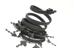 Bracelet  Zipper jewelry  Goth lace necklace  by ZIPPERjewelry, $55.00