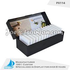 stone display rack cardboard sample display  box