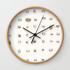 Buy boobs Wall Clock by juliaheffernan. Worldwide shipping available at Society6.com. Just one of millions of high quality products available.