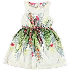 Zwierige jurk van het sjieke merk Derhy, de jurk heeft een onderjurk en een prachtige print