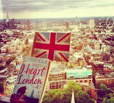 "Lindsey Kelk ""I Heart London"" (#5) overlooking London!"
