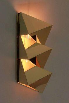Brass Geometric Sconces 3