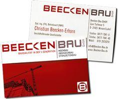 Logo and Visitenkarten für die Beecken Bau GmbH