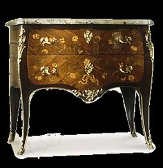 Commode stamped Bon Durand (mastership, Paris 1761) Louis XV period, circa 1765. Sycamore marquetry on tulipwood and amarante, breccia marble and gilt bronze.