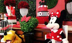 Mesa Minnie #festaminnie #decoracaominie #mesaminie #minnie