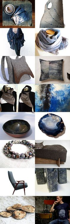 Beautiful Brown, Blue and Gray by Andrew Glover on Etsy--Pinned with TreasuryPin.com