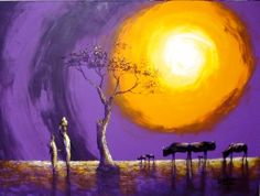 """""""Man at one with Nature"""" -Tony Wakaba Mutheki - www.rhinoheadgallery.com One With Nature, African Art, Gallery, Painting, Roots, Symbols, Painting Art, Icons, Paintings"""