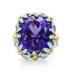 Jean Schlumberger Sapphire, Diamond, 18K Gold and Platinum Ring
