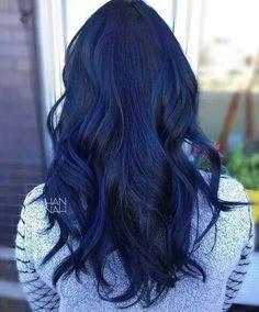 Sapphire blue balayage