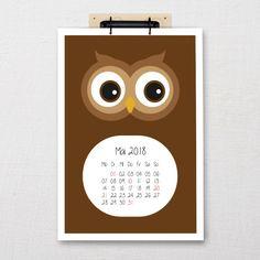 "Children's calendar ""Zoo"" DIN-A3 / A4   Five before ten A3, Calendar, Frame, Home Decor, Calendar For Kids, Wall Calendars, Animal Themes, Animales, Nice Asses"
