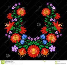 Traditional Hungarian Folk Embroidery Pattern - Download From Over 55 Million High Quality Stock Photos, Images, Vectors. Sign up for FREE today. Image: 51512902