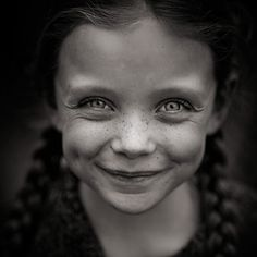 Laughter in her eyes...
