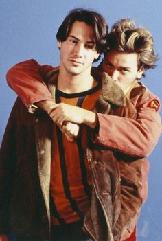 Keanu Reeves and River Phoenix for My Own Private Idaho directed by Gus Van Sant, 1991 My Own Private Idaho, River Phoenix Keanu Reeves, Actor Keanu Reeves, Keanu Charles Reeves, Keanu Reeves Matrix, John Wick, Toy Story, Hollywood, Two Best Friends