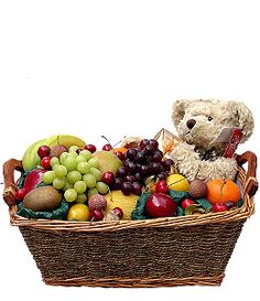 Grand Celebration  (12 Kgs Fruits )  The ultimate fruit gift or treat. This basket contains a classic selection of fruit such as apples, pears and bananas as well as the more exotic Papaya, Pineapple,melon and Mango. Includes a personalized greeting of your choice and a cute teddy bear. (20 kgs fruits, Due to the seasonal nature of fruit, contents may vary).